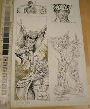Kevin Siembieda original art from Rifts South America - 4 different on one page