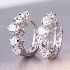 10 kt white ep gold Huggy Diamond Earrings 1.5 CT