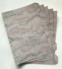 A5 Filofax Organiser Dividers -Pretty Pink & Grey Cloud Design - Fully Laminated