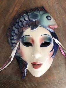 Clay Art San Francisco Ceramic Mask Fish Wall Art