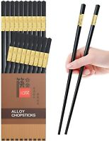 10 Pairs Reusable Chopsticks Dishwasher Safe,9.5 Inch Fiberglass Chop Sticks