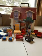 Lot Playmobil 5167 Take Along Modern Doll House Excellent Condition