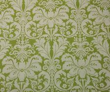 """LACEFIELD DESIGNS CHARLOTTE CELERY GREEN FLORAL DAMASK FABRIC BY THE YARD 55""""W"""