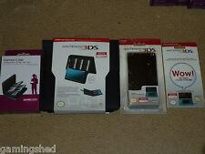 NINTENDO 3DS UFFICIALE Carry Folio console CRYSTAL CASE Screen Protector LOTTO NUOVO!