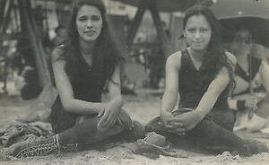 ANTIQUE VINTAGE PRE FLAPPER ERA BEACH AMERICAN BEAUTIES 1919 ARTISTIC OLD PHOTO