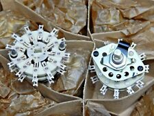 Ceramic Rotary Switch 6 pole 3 pos. unshorting New. Set of 2.