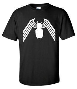 Venom Logo Spiderman Superhero Comin Ment T-shirt