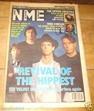 VELVET UNDERGROUND HAND SIGNED NME MUSIC PAPER 1993 LOU REED STERLING MOE CALE