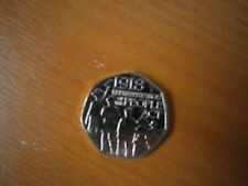 Fifty Pence Coin .1918 Representation of the PEOPLE ACT.  Issued 2018.