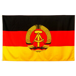 Fahne DDR 90x150 Flagge Deutsche demokratische Republik historische Hissflagge