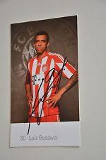 30 Luiz Gustavo  Autogrammkarte Bayern München 2010/11  handsigniert