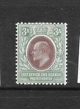 EAST AFRICA & UGANDA 1903-04   3a   KEVII   MH   SG 5