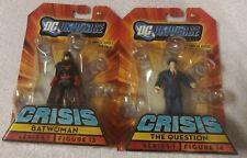 MATTEL DC UNIVERSE INFINITE HEROES CRISIS BATWOMAN & THE QUESTION FIGURES SEALED