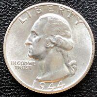 1944 D Washington Quarter Dollar 25c High Grade BU #18384