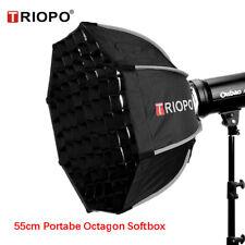 Triopo 55cm Photo Portabe Bowens Mount Octagon Umbrella Softbox + Honeycomb Grid