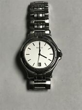 Authentic Gucci Watch 9040m Stainless Steel Quartz Watch With Date Women's Small