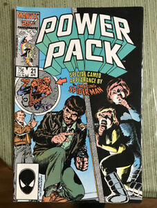 Power Pack #21 (Marvel 1986) Spider-man  COMBINED SHIPPING AVAILABLE