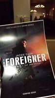 JACKIE CHAN SIGNED THE FOREIGNER MOVIE POSTER 12x18 AUTO RUSH HOUR PHOTO PROOF