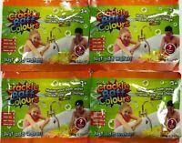 4 x CRACKLE BATH BAFF SACHET ZIMPLY KIDS SENSORY MESSY PLAY TIME SNAP POP COLOUR