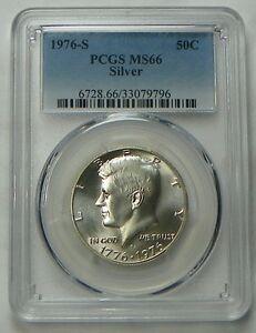 1976-S Silver Kennedy Bicentennial Half Dollar PCGS MS66 - Free Shipping