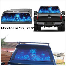 Pickup Truck SUV Rear Window Flaming Skull Sticker Accessories 147x46cm For Ford