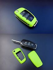 Audi Remote Flip Key Cover Case Skin Shell Cap Fob Protection Hull S Line Green