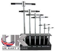 Acier au carbone forgé t-bar set 2,5, 3, 4, 5, 6, 8mm avec rack UK Kart magasin