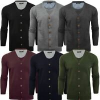 Brave Soul Mens Knitted V Neck Buttoned Cardigan Knitwear Cotton Warm Top S-XXL