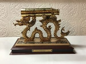 NATIONAL MARITIME HISTORICAL SOCIETY 24k GOLD PLATED SPY GLASS & STAND