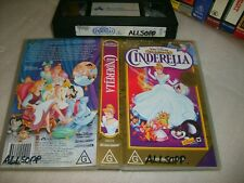 Vhs *CINDERELLA* Walt Disney Classics Original Animated Masterpiece! - Not a Dvd