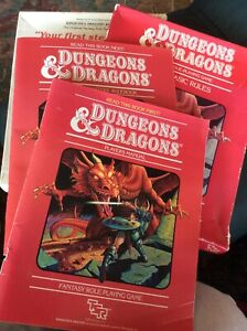 Dungeon and Dragons Set 1 Basic Rules Vintage 1983 TSR D&D Rare 80s