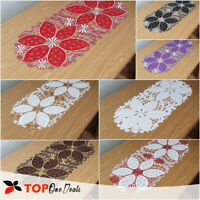 Embroidered Small Table Runner Tablecloths 40x90cm Floral Black White All Color