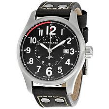 Hamilton Khaki Black Leather Mens Automatic Watch H70615733-AU