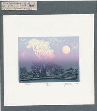 EX14065 EX Libris SHEN YANXIANG 2009 landscape trees signed c3