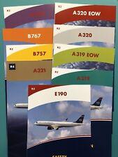 9 US AIRWAYS SAFETY CARDS SET