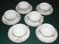VINTAGE REAL S. PAULO BRAZIL CUPS AND SAUCERS (6) TWO PIECE SETTINGS