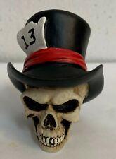 "Top Hat "" Lucky 13 "" Skull Bust Figurine. Cool Custom Shift Knob.Key. Diy"