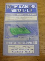 05/09/1962 Bolton Wanderers v Manchester United  (Crease, Small Hole To Corner,