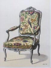 Stampa sedia barocca - con braccioli - con passe-partout