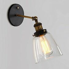 Glass Clear Shade Modern Ceiling Vintage Retro Chandelier Adjustable Wall Light