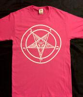 PENTAGRAM T SHIRT CYBER PINK EVIL punk Horror EVIL HIPSTER CLUB  GOTHIC S - XL