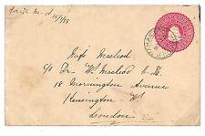 U52 1899 *British Guiana* London Gb Postal Stationery {samwells-covers}Pts