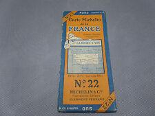 Carte michelin N°22 LA ROCHE SUR YON 1923/collector BIBENDUM  vintage