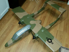 "Megajets RC Radio Controlled OV-10 Bronco Twin Foam Airplane Kit 52"" Wingspan"