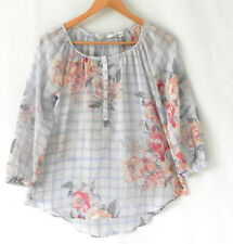 LC Lauren Conrad Top Hi-Low 3/4 Sleeve Poly Chiffon Pull Over Size XS
