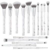 UNIMEIX Marble Makeup Brushes 15 Pieces Makeup Brush Set Premium Face Eyeliner
