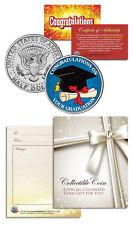 Graduation Keepsake Gift for Graduate Class JFK Kennedy Half Dollar US Coin