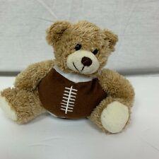 Plushland Small Football Teddy Bear Stuffed Animal Plush Toy Brown White