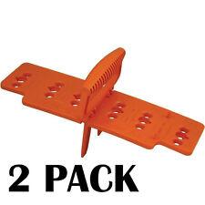 Deck Board Spacer Fastener Alignment Guide 2pc Wood PVC Floor Builder Jig Tool