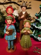 Vintage Parma AAI Paper Mache Charles Dickens Christmas Carolers Set of 4 Japan